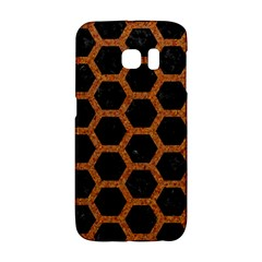 HEXAGON2 BLACK MARBLE & RUSTED METAL (R) Galaxy S6 Edge