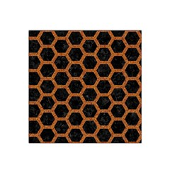 HEXAGON2 BLACK MARBLE & RUSTED METAL (R) Satin Bandana Scarf