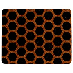 HEXAGON2 BLACK MARBLE & RUSTED METAL (R) Jigsaw Puzzle Photo Stand (Rectangular)