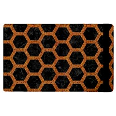 HEXAGON2 BLACK MARBLE & RUSTED METAL (R) Apple iPad Pro 12.9   Flip Case