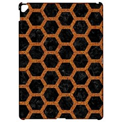 HEXAGON2 BLACK MARBLE & RUSTED METAL (R) Apple iPad Pro 12.9   Hardshell Case