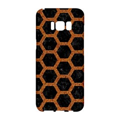 HEXAGON2 BLACK MARBLE & RUSTED METAL (R) Samsung Galaxy S8 Hardshell Case