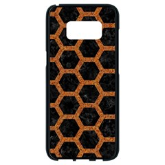 HEXAGON2 BLACK MARBLE & RUSTED METAL (R) Samsung Galaxy S8 Black Seamless Case