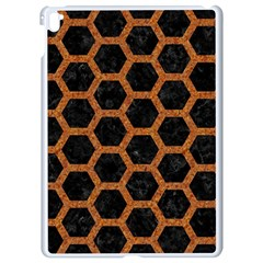 HEXAGON2 BLACK MARBLE & RUSTED METAL (R) Apple iPad Pro 9.7   White Seamless Case