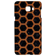 HEXAGON2 BLACK MARBLE & RUSTED METAL (R) Samsung C9 Pro Hardshell Case