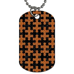 Puzzle1 Black Marble & Rusted Metal Dog Tag (one Side)