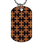 PUZZLE1 BLACK MARBLE & RUSTED METAL Dog Tag (One Side) Front
