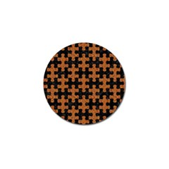 Puzzle1 Black Marble & Rusted Metal Golf Ball Marker (4 Pack) by trendistuff