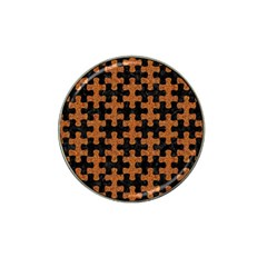 Puzzle1 Black Marble & Rusted Metal Hat Clip Ball Marker by trendistuff