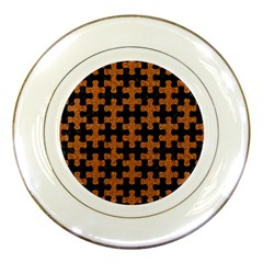Puzzle1 Black Marble & Rusted Metal Porcelain Plates by trendistuff