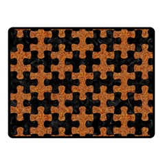 Puzzle1 Black Marble & Rusted Metal Fleece Blanket (small) by trendistuff