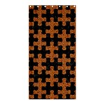 PUZZLE1 BLACK MARBLE & RUSTED METAL Shower Curtain 36  x 72  (Stall)  33.26 x66.24 Curtain