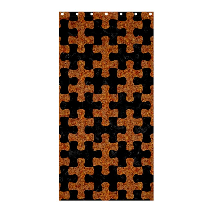 PUZZLE1 BLACK MARBLE & RUSTED METAL Shower Curtain 36  x 72  (Stall)