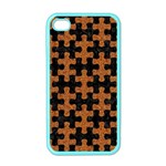 PUZZLE1 BLACK MARBLE & RUSTED METAL Apple iPhone 4 Case (Color) Front