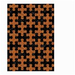 PUZZLE1 BLACK MARBLE & RUSTED METAL Small Garden Flag (Two Sides) Back