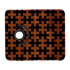 Puzzle1 Black Marble & Rusted Metal Galaxy S3 (flip/folio)