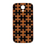 PUZZLE1 BLACK MARBLE & RUSTED METAL Samsung Galaxy S4 I9500/I9505  Hardshell Back Case Front