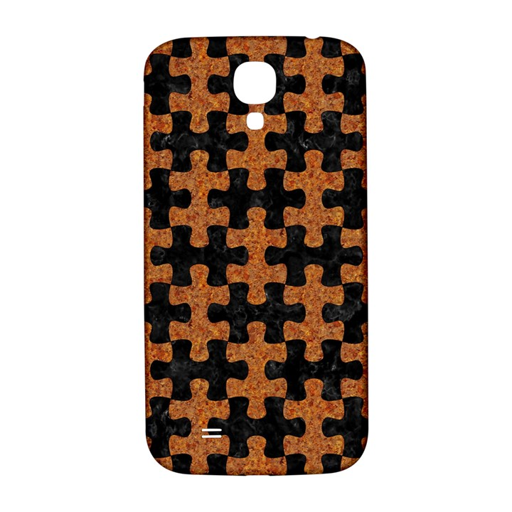 PUZZLE1 BLACK MARBLE & RUSTED METAL Samsung Galaxy S4 I9500/I9505  Hardshell Back Case