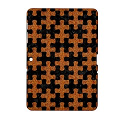 Puzzle1 Black Marble & Rusted Metal Samsung Galaxy Tab 2 (10 1 ) P5100 Hardshell Case  by trendistuff