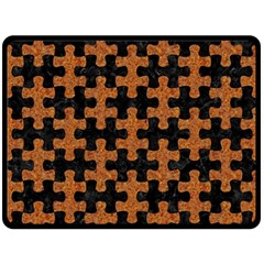 Puzzle1 Black Marble & Rusted Metal Double Sided Fleece Blanket (large)  by trendistuff