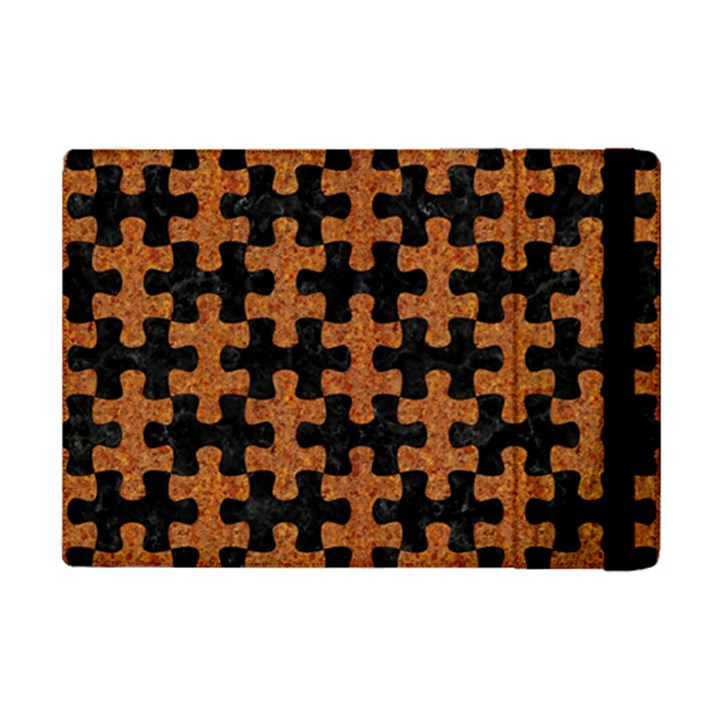 PUZZLE1 BLACK MARBLE & RUSTED METAL iPad Mini 2 Flip Cases