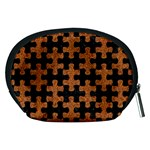 PUZZLE1 BLACK MARBLE & RUSTED METAL Accessory Pouches (Medium)  Back