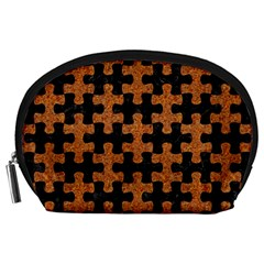 Puzzle1 Black Marble & Rusted Metal Accessory Pouches (large)  by trendistuff