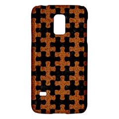 Puzzle1 Black Marble & Rusted Metal Galaxy S5 Mini