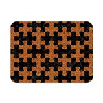PUZZLE1 BLACK MARBLE & RUSTED METAL Double Sided Flano Blanket (Mini)  35 x27 Blanket Front