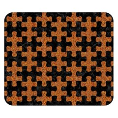 Puzzle1 Black Marble & Rusted Metal Double Sided Flano Blanket (small)  by trendistuff
