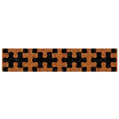 Puzzle1 Black Marble & Rusted Metal Flano Scarf (small)