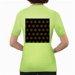 ROYAL1 BLACK MARBLE & RUSTED METAL Women s Green T-Shirt Back