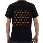 ROYAL1 BLACK MARBLE & RUSTED METAL Men s T-Shirt (Black) (Two Sided) Back