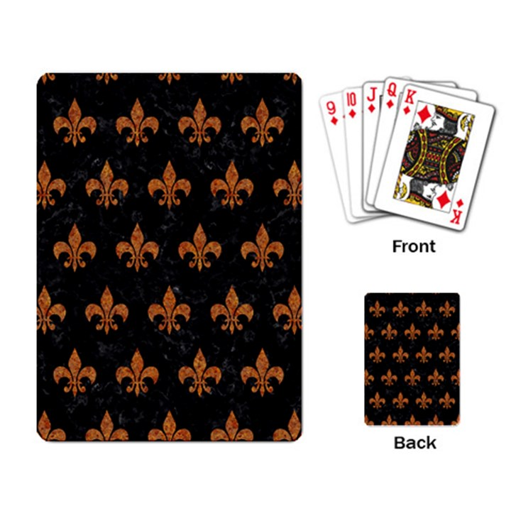 ROYAL1 BLACK MARBLE & RUSTED METAL Playing Card