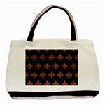 ROYAL1 BLACK MARBLE & RUSTED METAL Basic Tote Bag Front