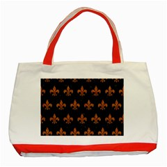 Royal1 Black Marble & Rusted Metal Classic Tote Bag (red) by trendistuff