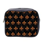 ROYAL1 BLACK MARBLE & RUSTED METAL Mini Toiletries Bag 2-Side Front