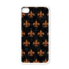 Royal1 Black Marble & Rusted Metal Apple Iphone 4 Case (white) by trendistuff