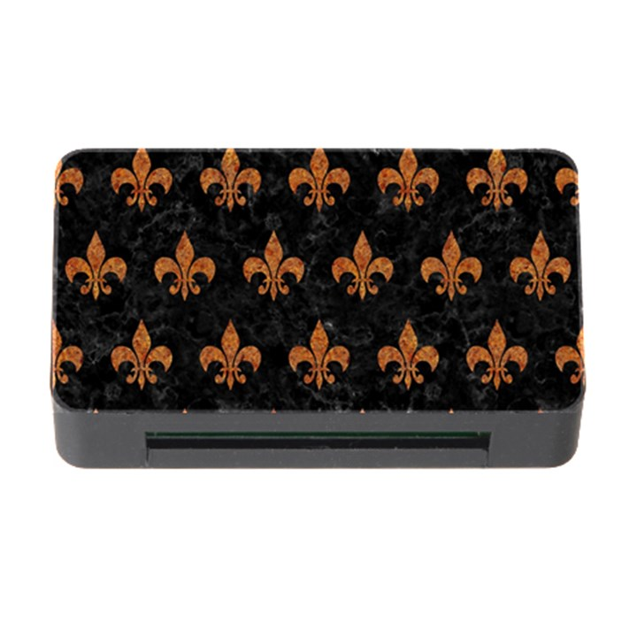 ROYAL1 BLACK MARBLE & RUSTED METAL Memory Card Reader with CF