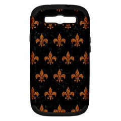 Royal1 Black Marble & Rusted Metal Samsung Galaxy S Iii Hardshell Case (pc+silicone) by trendistuff