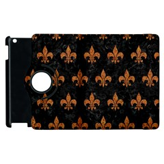 Royal1 Black Marble & Rusted Metal Apple Ipad 3/4 Flip 360 Case by trendistuff