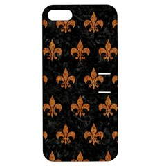 Royal1 Black Marble & Rusted Metal Apple Iphone 5 Hardshell Case With Stand by trendistuff