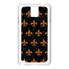 Royal1 Black Marble & Rusted Metal Samsung Galaxy Note 3 N9005 Case (white) by trendistuff