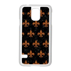 Royal1 Black Marble & Rusted Metal Samsung Galaxy S5 Case (white) by trendistuff