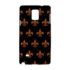 Royal1 Black Marble & Rusted Metal Samsung Galaxy Note 4 Hardshell Case by trendistuff