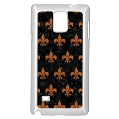 Royal1 Black Marble & Rusted Metal Samsung Galaxy Note 4 Case (white) by trendistuff