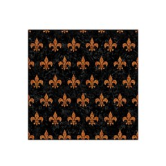 Royal1 Black Marble & Rusted Metal Satin Bandana Scarf