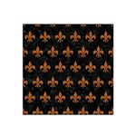 ROYAL1 BLACK MARBLE & RUSTED METAL Satin Bandana Scarf Front