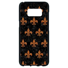 Royal1 Black Marble & Rusted Metal Samsung Galaxy S8 Black Seamless Case by trendistuff