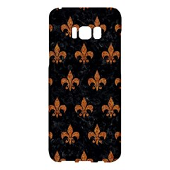 Royal1 Black Marble & Rusted Metal Samsung Galaxy S8 Plus Hardshell Case  by trendistuff